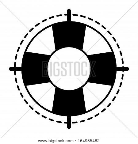 life buoy safety travel line vector illustration eps 10