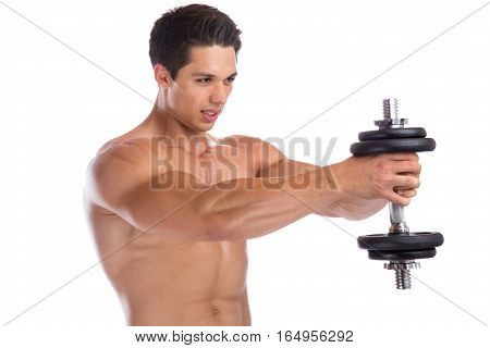 Bodybuilder Bodybuilding Muscles Shoulder Shoulders Training Strong Power Muscular Man Dumbbell Isol