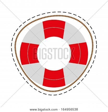 life buoy safety travel cut line vector illustration eps 10