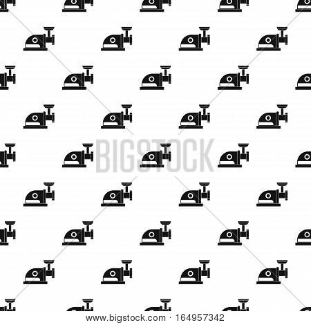 Simple illustration of electric meat grinder vector pattern for web