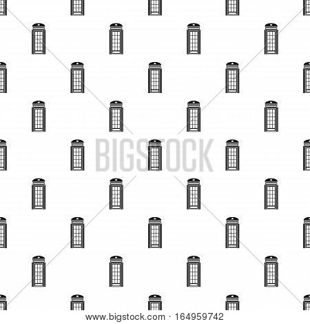 British phone booth pattern. Simple illustration of british phone booth vector pattern for web