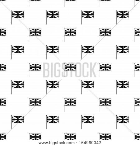 Great Britain flag with flagpole pattern. Simple illustration of Great Britain flag with flagpole vector pattern for web