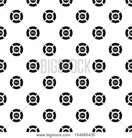 Circle loading, 25 percent pattern. Simple illustration of circle loading, 25 percent vector pattern for web