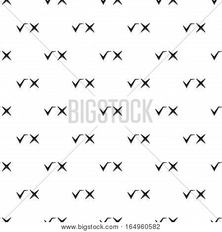 Check marks pattern. Simple illustration of check marks vector pattern for web