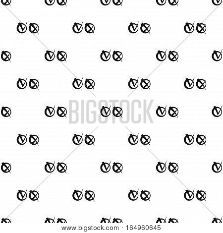 Tick and cross check marks pattern. Simple illustration of tick and cross check marks vector pattern for web