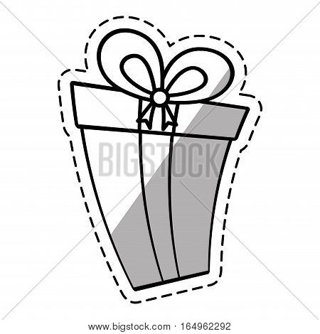 gift box ribbon new package linea shadow vector illustration eps 10