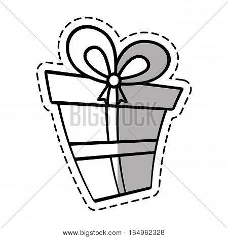 gift box ribbon wedding present linea shadow vector illustration eps 10