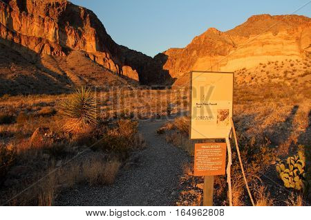 Burro Mesa Pouroff Trailhead, Big Bend National Park, Texas