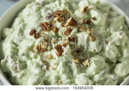 Homemade Green Pistachio Fluff Dessert