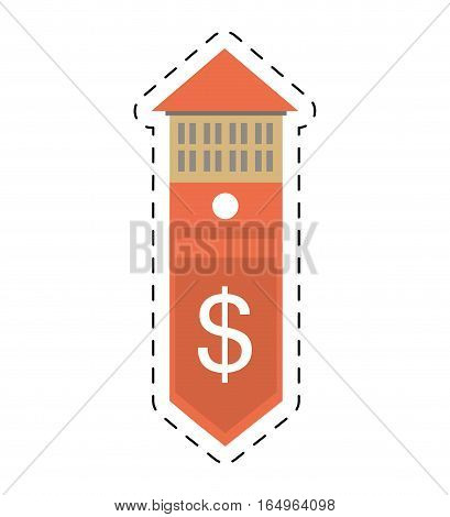real estate building price expenses value cut line vector illustration eps 10