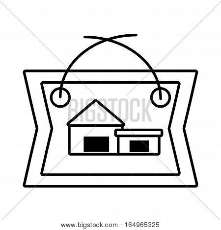 real estate cottage housing poster outline vector illustration eps 10