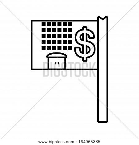 real estate property value residential outline vector illustration eps 10