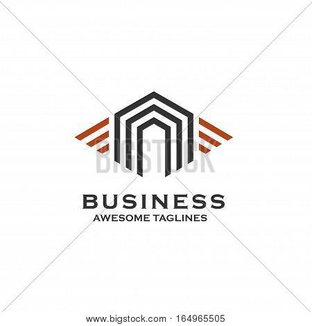 Property and Construction Logo design Vector , real estate and homes logo concept, stripes house logo concept