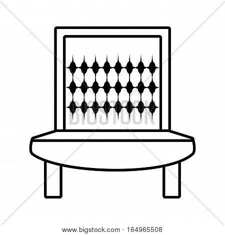 sofa furniture house relax outline vector illustration eps 10