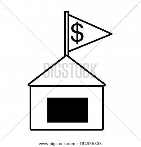real estate building investment price outline vector illustration eps 10