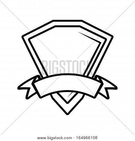 shield premium badge ribbon outline empty vector illustration eps 10