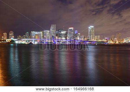 Miami, Florida - Usa - January 08, 2016: Night In Miami