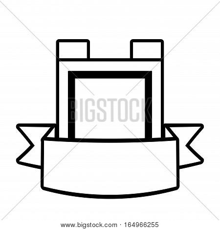 shield guarantee premium label outline empty vector illustration eps 10