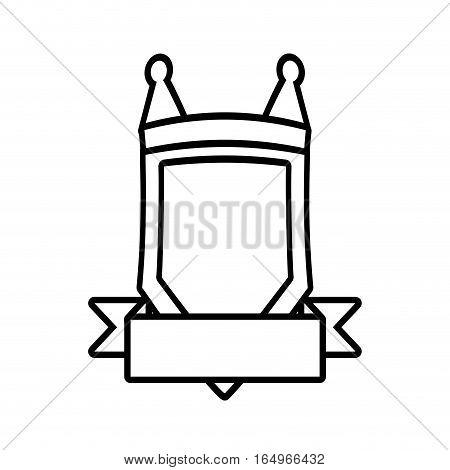 shield element sticker outline empty vector illustration eps 10