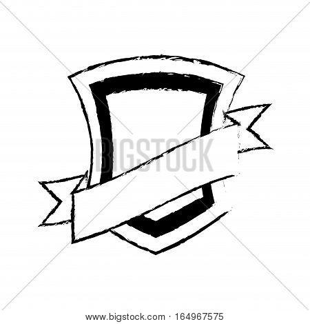 shield guarantee premium label sketch vector illustration eps 10