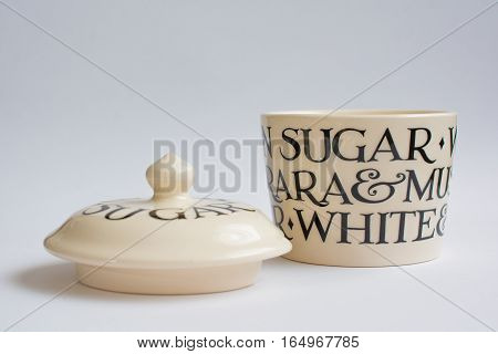 Classic Sugar Bowl with Lid Infront Front View