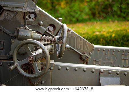 World War Two Tank Gun Detail Closeup