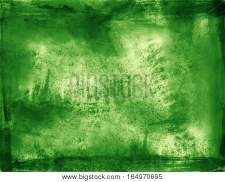 Green brush stroke texture can be used a background
