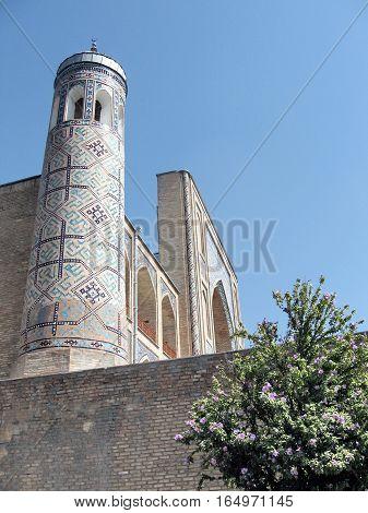 Minaret of Kukeldash Madrassah Tashkent Uzbekistan September 13 2007