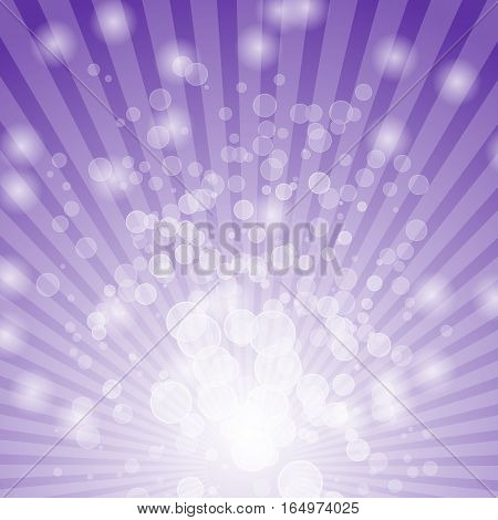 Abstract bokeh on violet background, stock vector