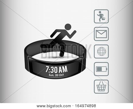 smart wristband wearable technology sport vector illustration eps 10