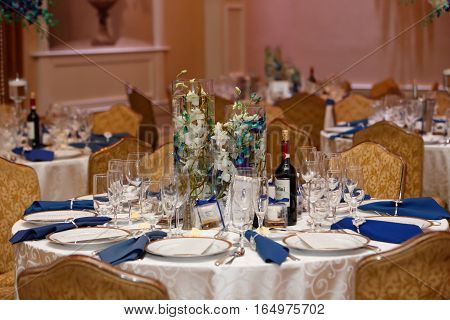 Table Set For Wedding