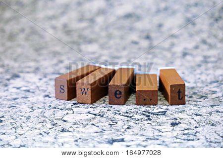 Wooden stamper alphabet
