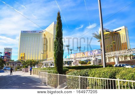 VEGAS NEVADA USA - January 11th 2016: Mandalay bay and Delano