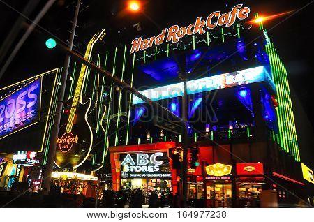 VEGAS NEVADA USA - January 11th 2016: Hard Rock Cafe