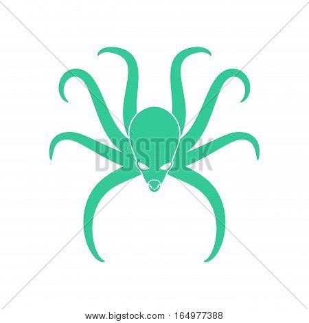Octopus Isolated. Poulpe On White Background. Sea Animals