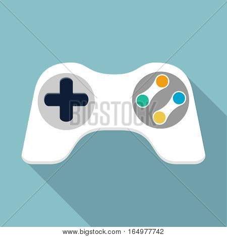 Game controller illustration, design element for mobile and web applications, eps 10