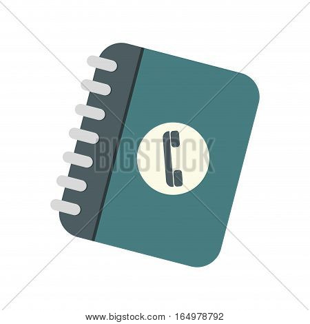 notepad directory contacts telephone vector illustration eps 10