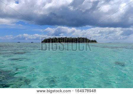 Small Island Off The Coast Of Tongatapu Island In Tonga