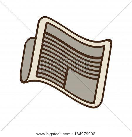 cartoon newspaper letter news daily vector illustration eps 10