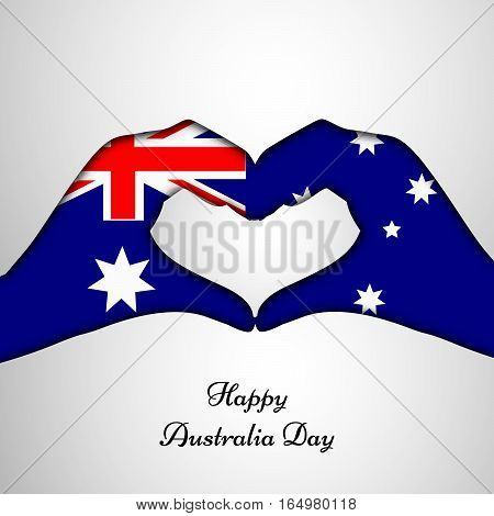 Illustration of Australia Flag for Australia Day