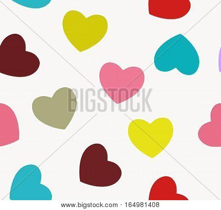 Heart love seamless pattern background. Vector illustr. EPS10