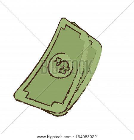 stack money dollar bills cash sketch vector illustration eps 10