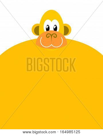 Monkey Isolated. Chimpanzee Head On White Background
