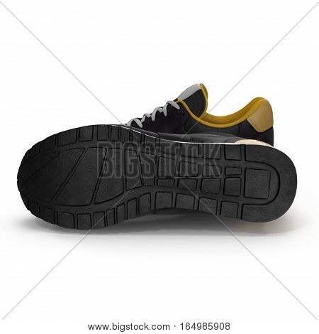 pair of sport trainers isolated on white background. 3D illustration
