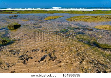Shallow Waters Of Ocean Coastline
