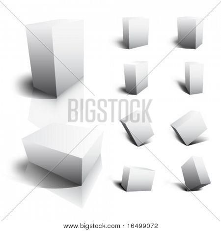 Leere Vektor 3D Boxen
