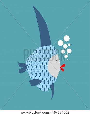 Tropical Fish Isolated. Marine Animal In Water