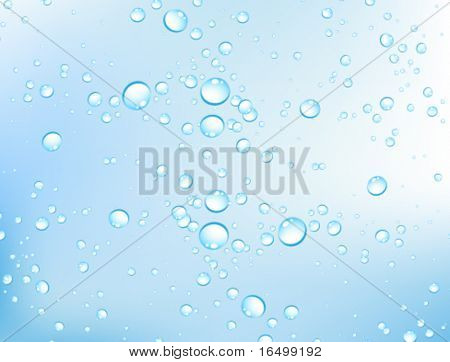 Vector water bubbles