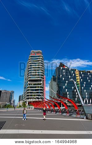 Medibank And Nab Buildings In The Docklands, Melbourne