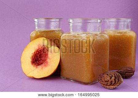 Popular fruit drink with half foetus and pips.